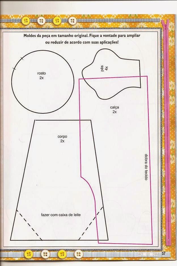 Moldes para fazer galo de feltro e tecido