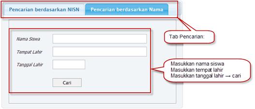 Petunjuk Cari NISN Siswa 2
