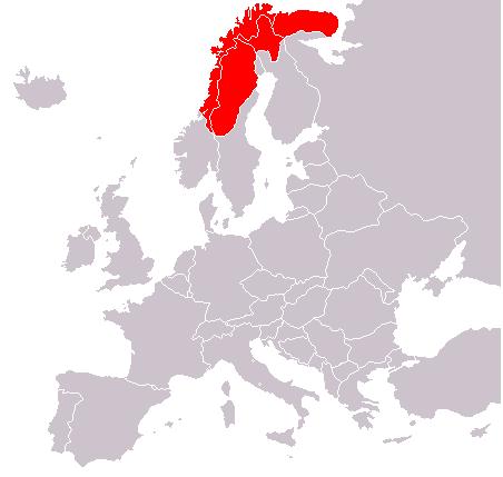 Η περιοχή finnmark στη νορβηγία, μέρος
