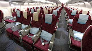 a340-600 qatar airways economy class, qatar airways