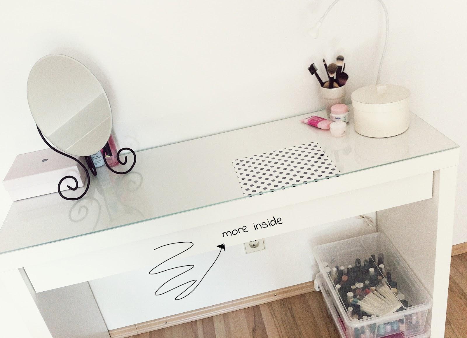 Ikea frisiertisch glasplatte for Ikea waschtisch