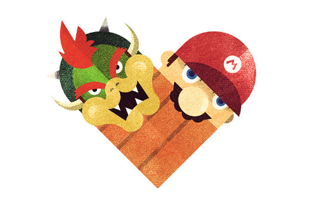 Versus/Hearts by Dan Matutina - It's the Big Bad Monster and the Plumber