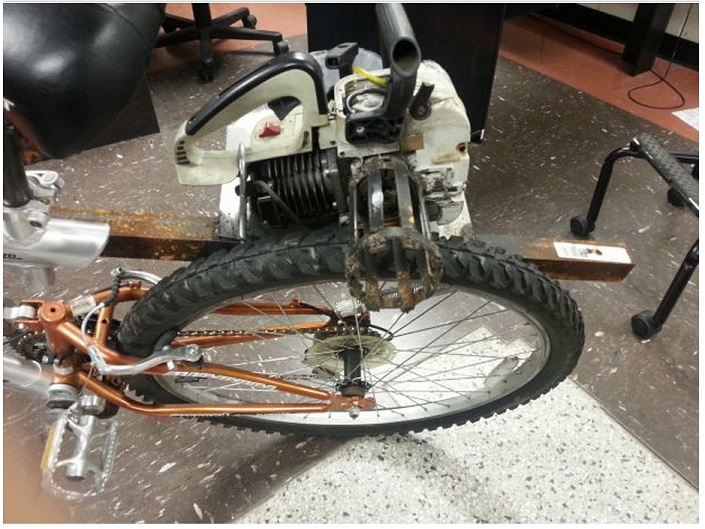 it is a Bike With a Chainsaw