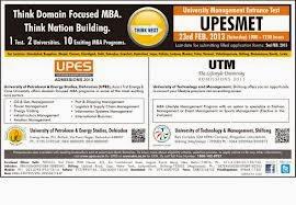 UPES MET 2014 Admit Card