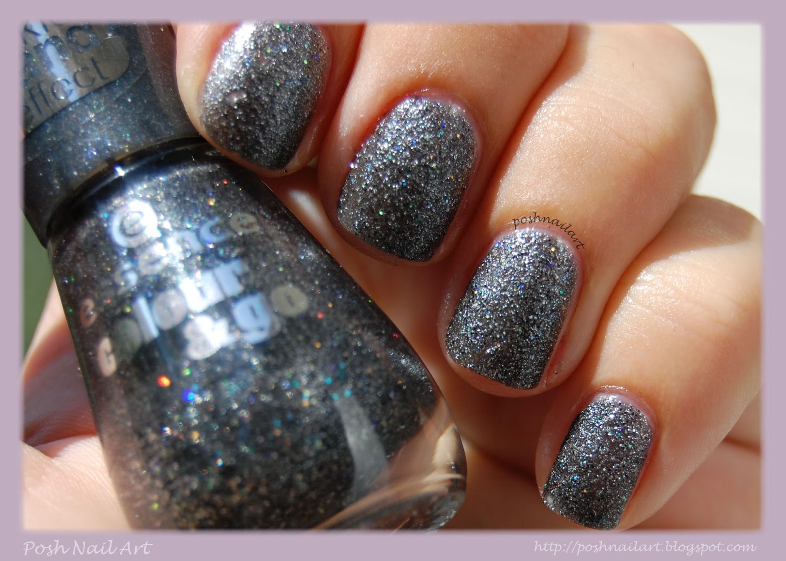 Posh Nail Art: Essence Sparkle Sand Effect