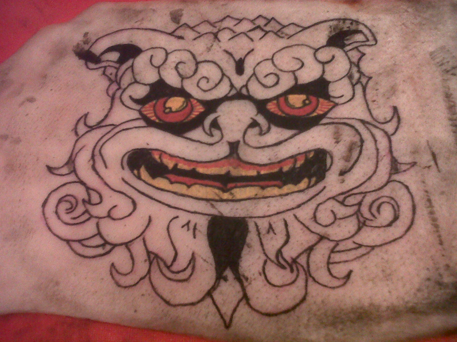 K inky tattoos adding some colour for Tattoo practice pig skin