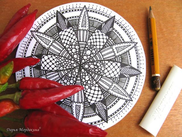 zendala, mandala, зендала, мандала, осень, art, sketch, творчество, арт, графика, graphic, sketchbook