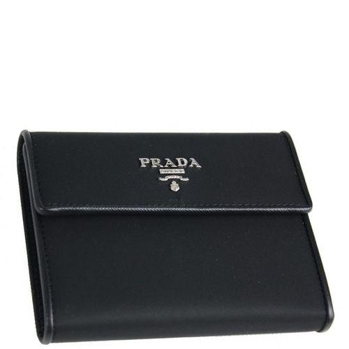 95b87f04cf19 100% AUTHENTIC BRANDS: Prada Wallet Medium Tessuto M170 Black $310
