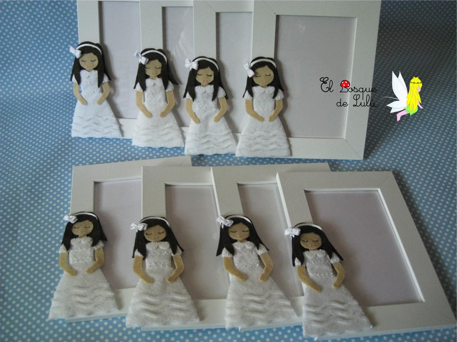 marco-muñeca-comunión-fieltro-personalizado-regalo-invitados-recuerdo