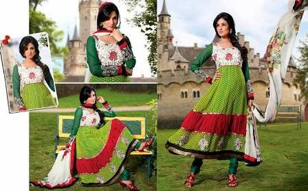Green Suit for Women, Anarkali Suits for Womens