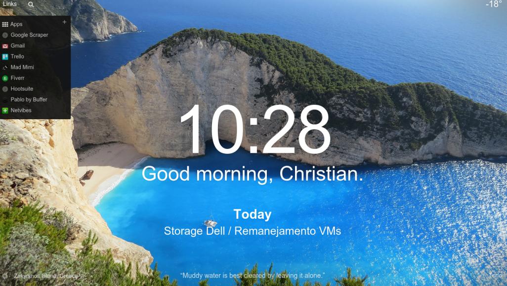 Transforme a nova guia do Chrome numa ferramenta de produtividade, beleza e inspiração!