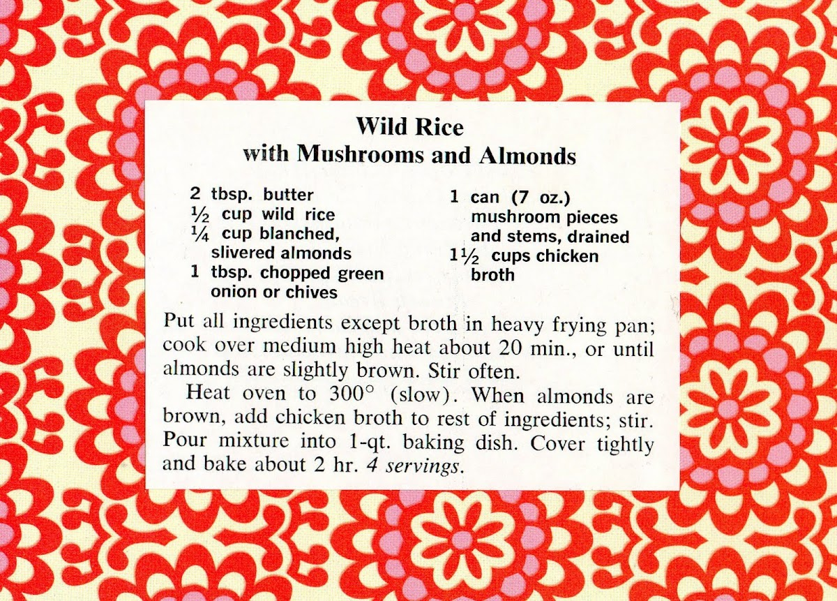 Wild Rice with Mushrooms and Almonds (quick recipe)