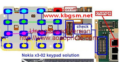Nokia X3-02 Keypad Problem (Not Working), Flexible Ways And Solution