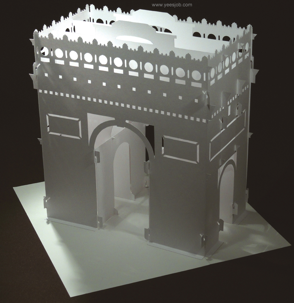 The kingdom of origami architecture the arc de triomphe for Architecture origami