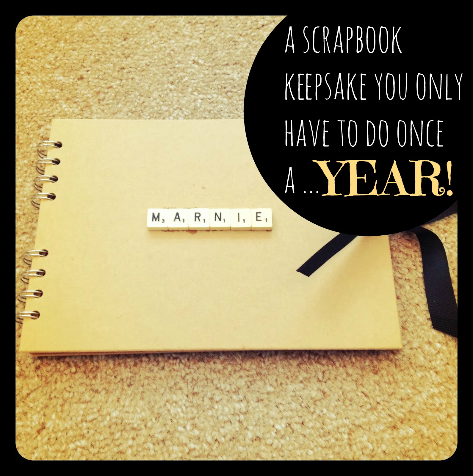 Scrapbook ideas cheap - V I Busy Bees A Scrapbook Photograph Idea For Time Pressed Mamas That You Do Once A Year