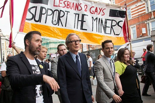 Pride BBc 2014 Miners march in Gay and Lesbian Pride parade
