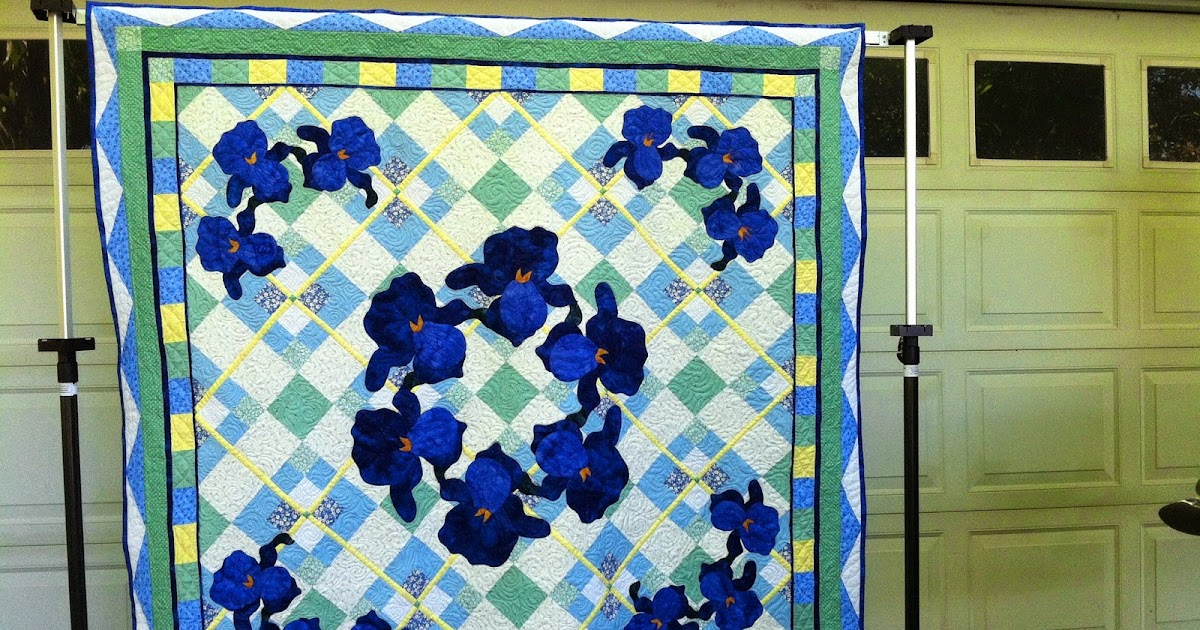 Morning glory designs new design will be featured in the for Front door quilt pattern