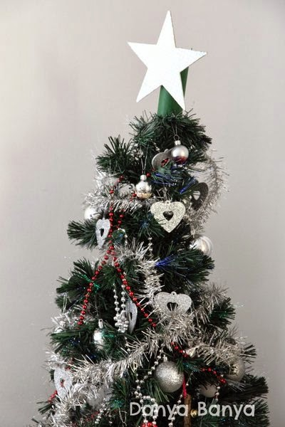DIY star for the top of the Christmas tree