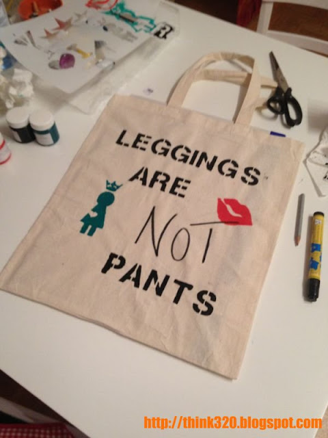 Jutebeutel Leggings are not pants