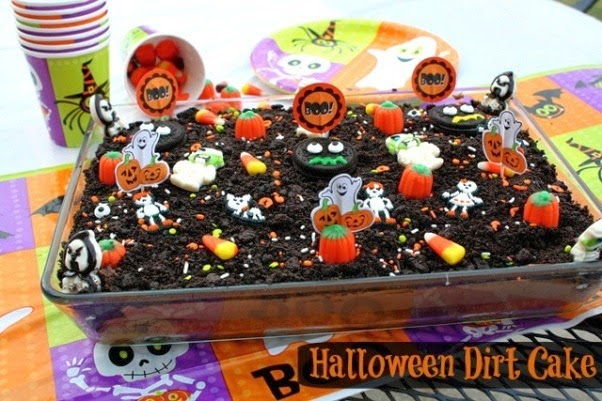 halloween dirt cake easy halloween party ideas - Easy To Make Halloween Cakes