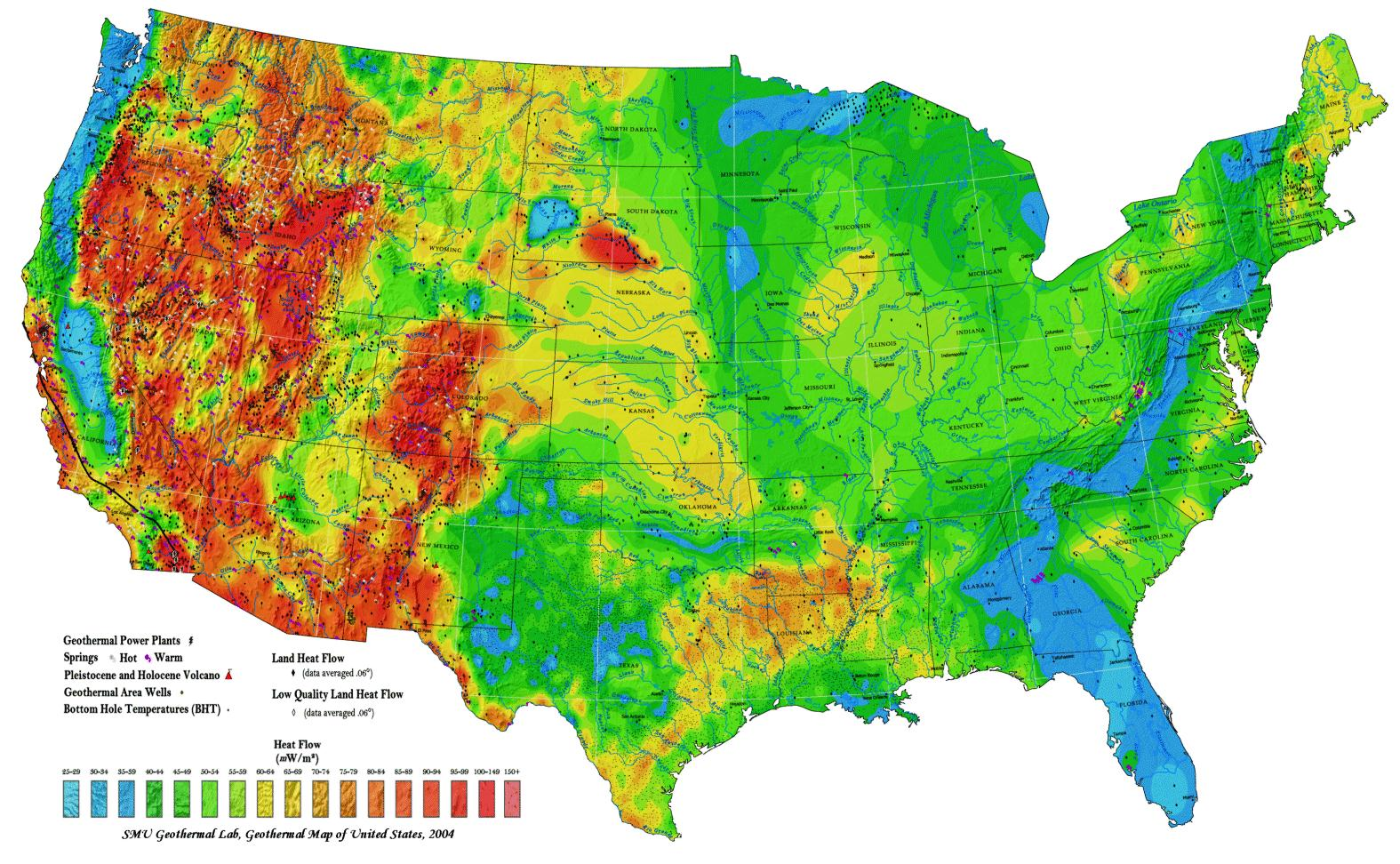 The Dake Page Christmas  The Hottest Climate Year On Record - Topographic map of eastern us