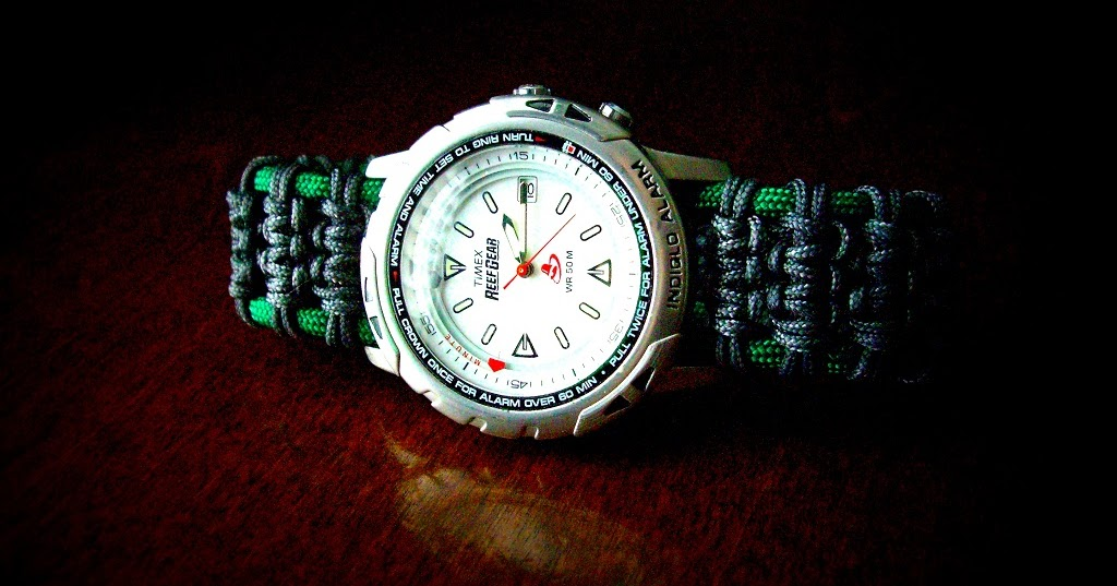 A Solomon Ladder paracord watchband/bracelet...