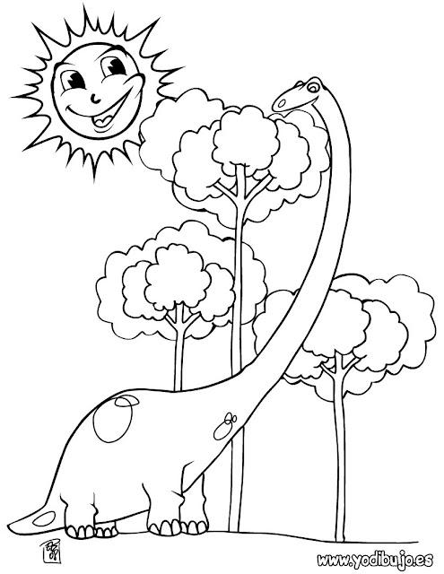 Dibujos de dinosaurios para imprimir y colorear