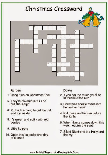 Christmas Crosswords For Kids Printable 5
