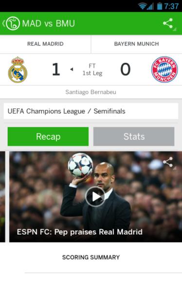 ESPN FC app to get live updates FIFA 2014