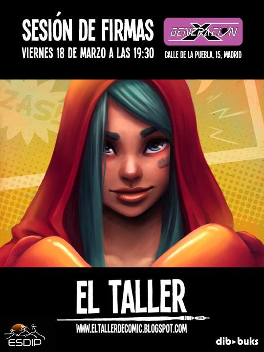 Sesión de firmas de EL TALLER