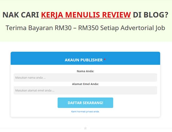 Jana Income Blog Menerusi Advertorial.MY