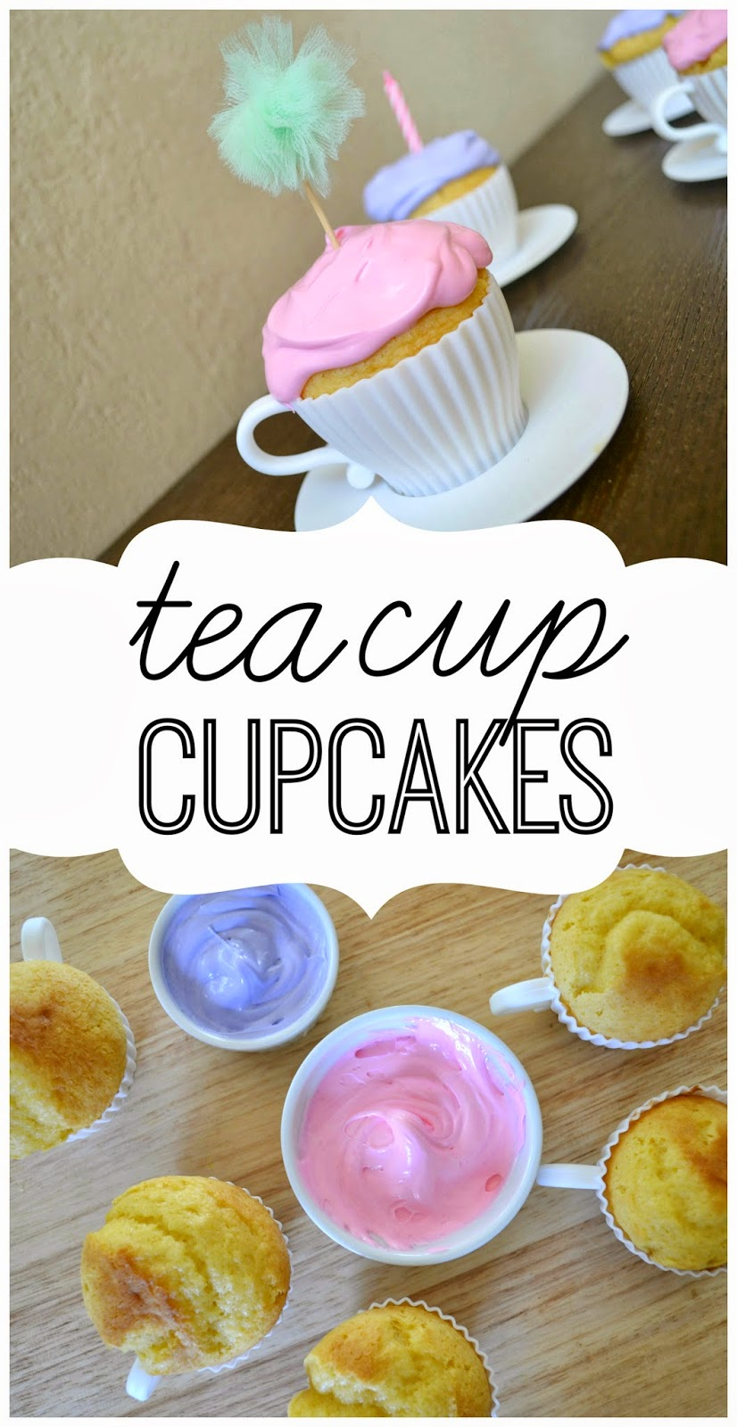 Mommy Testers how to make Teacup Cupcakes