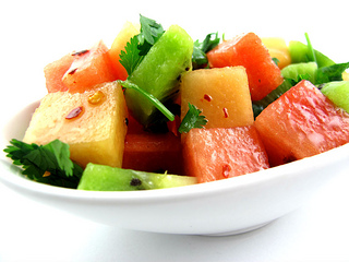 Spicy salad for raw dieters