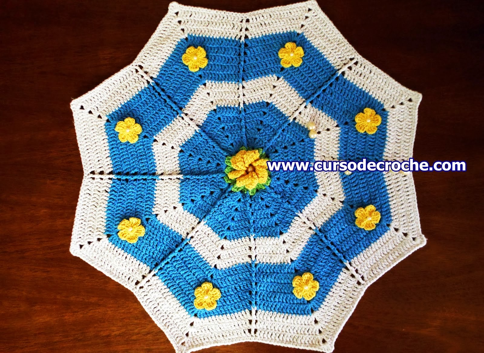aprender croche estrelas tapetes florais réveillon mesa edinir-croche loja dvd video-aulas curso de croche frete gratis