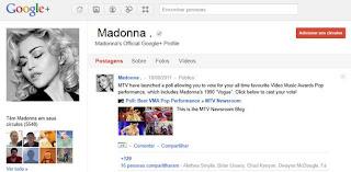 As celebridades estão no Google Plus.