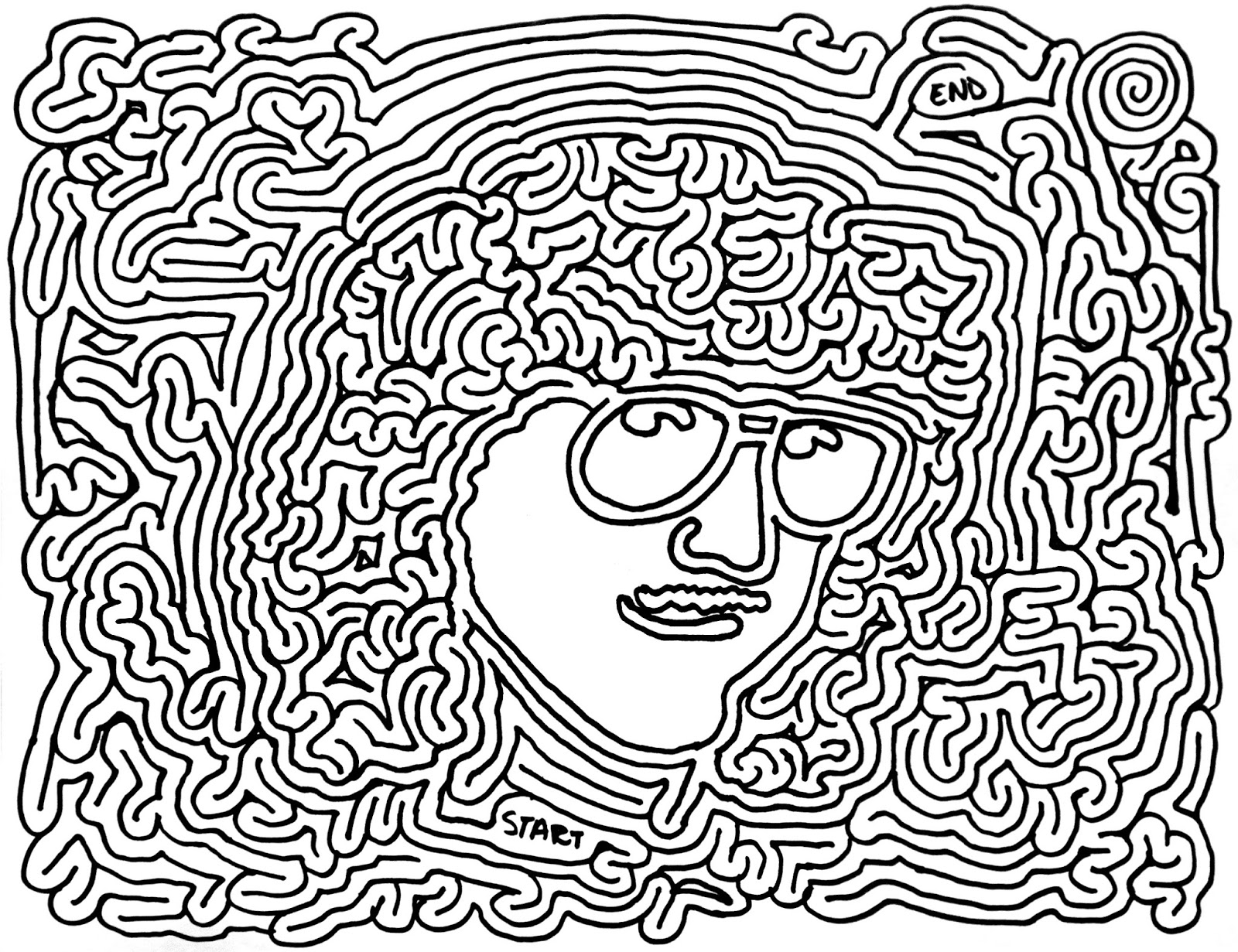 psychedelic coloring pages - photo#35