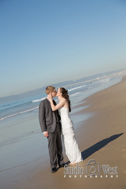 Hermosa Pier Wedding Photo