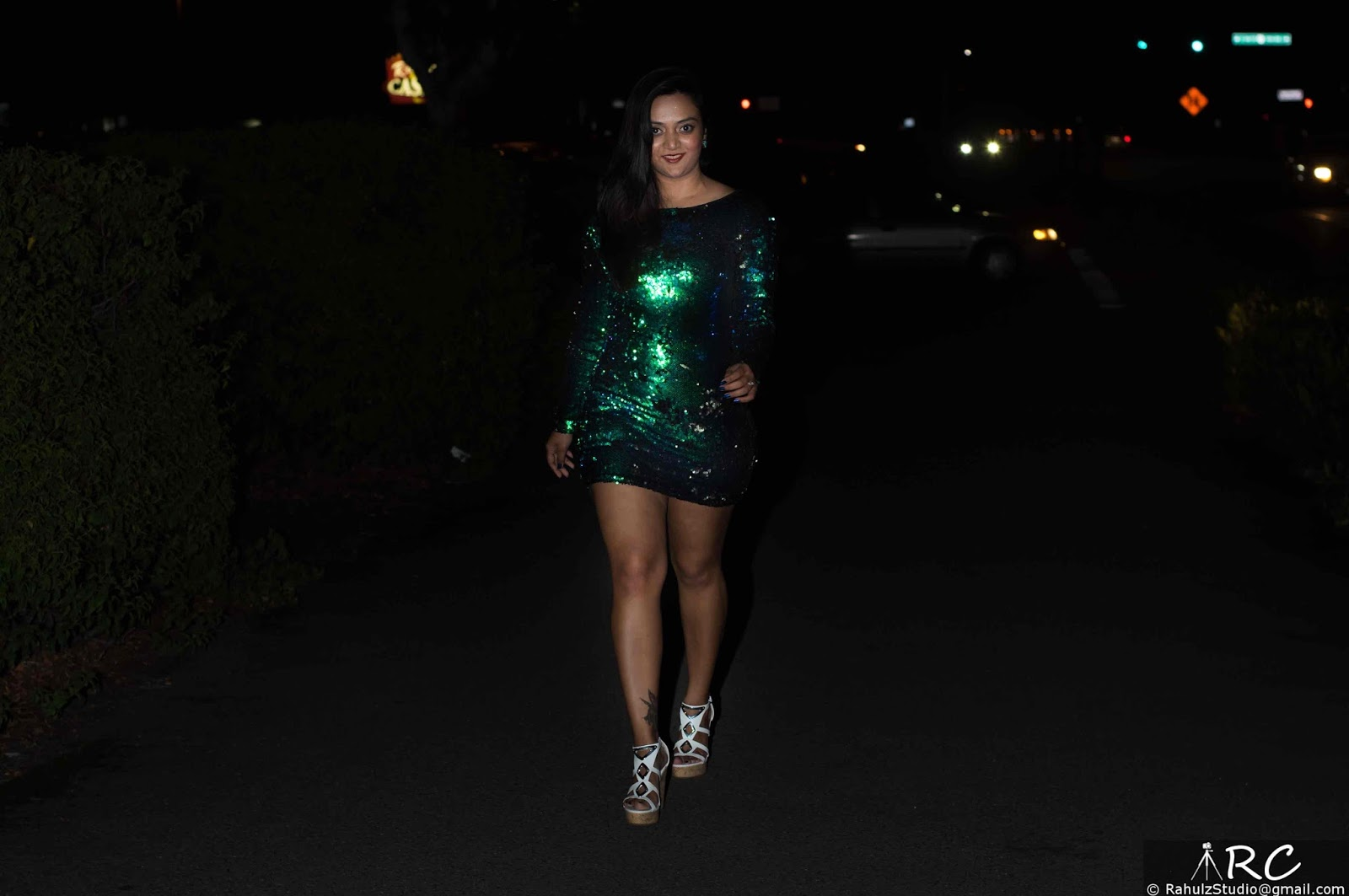 Green Bodycon dress, Sequenced dress, Club wear, Indian girl short dress, Club Dress, Bandage dress