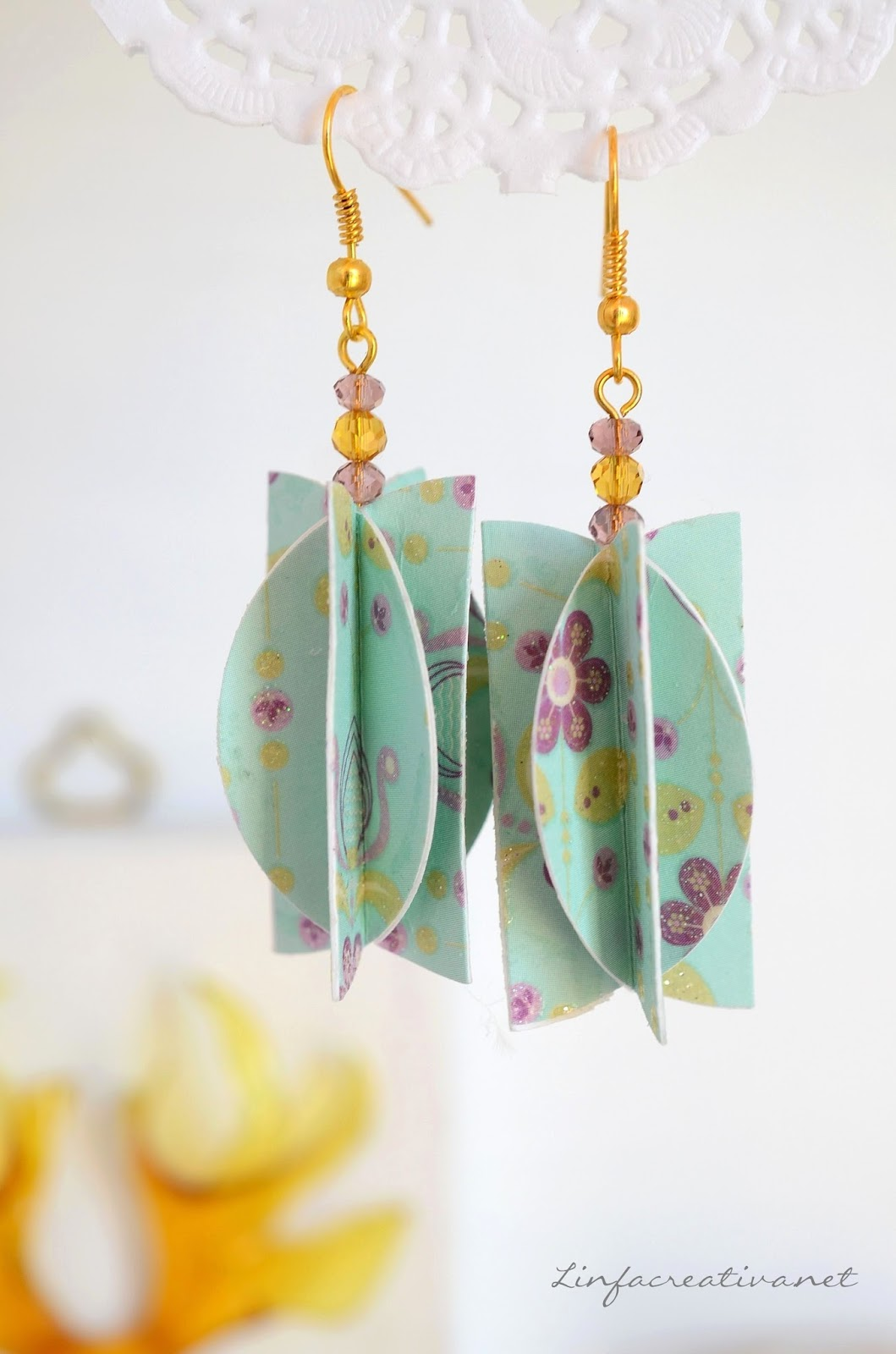 hand made paper earrings