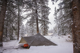 mountain laurel designs trailstar in the snow east of the continental divide in wyoming