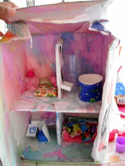 muebles para la casa de muñecas   . . . . . . . . . . . . el ... - Imagenes De Armarios Hecho Con Cajas Recicladas