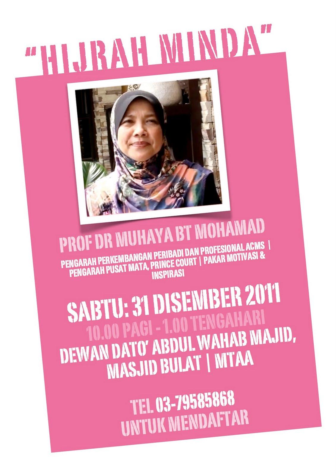 Hijrah Minda - Bicara Masjid Bulat bersama Prof Dr. Muhaya Mohamad