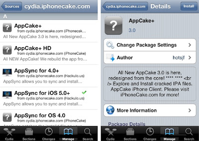 Cydia Search AppCake
