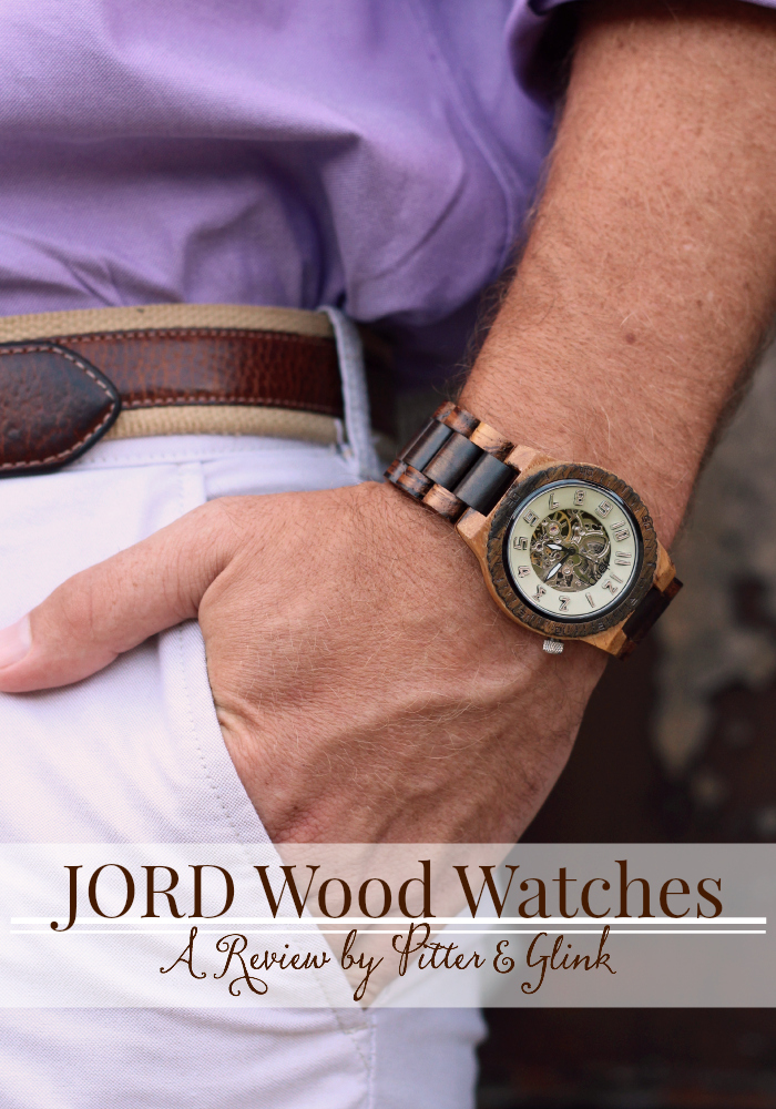 A Review of the Dover Watch (Zebrawood & Cream) from JORD Wood Watches. www.pitterandglink.com #jordwatch