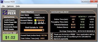 Prova de pagamento Adsclickers e plugins GomezPeer