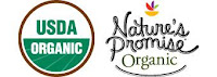 Nature's Promise Organic Logo with USDA Organic seal next to it..
