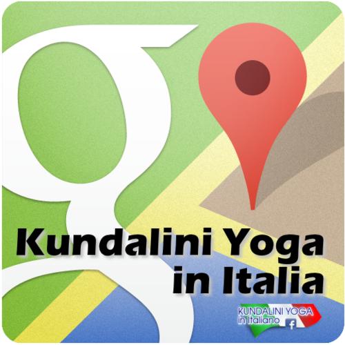 Mappa del Kundalini Yoga in Italia