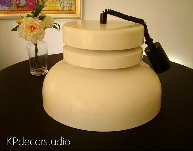 Lámparas de techo vintage estilo industrial, auténticas y originales de los años 70 estilo retro