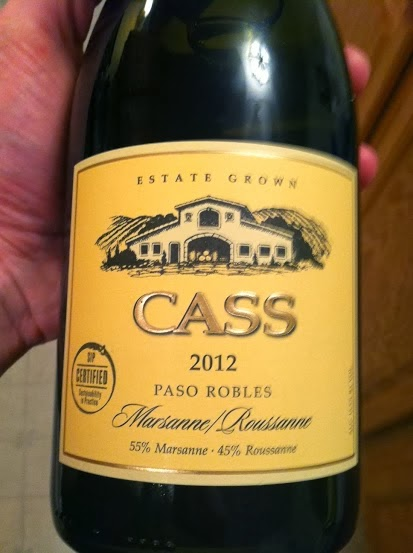 Cass Marsanne Roussanne Blend a Cooking Chat January #Wine of Note selection.