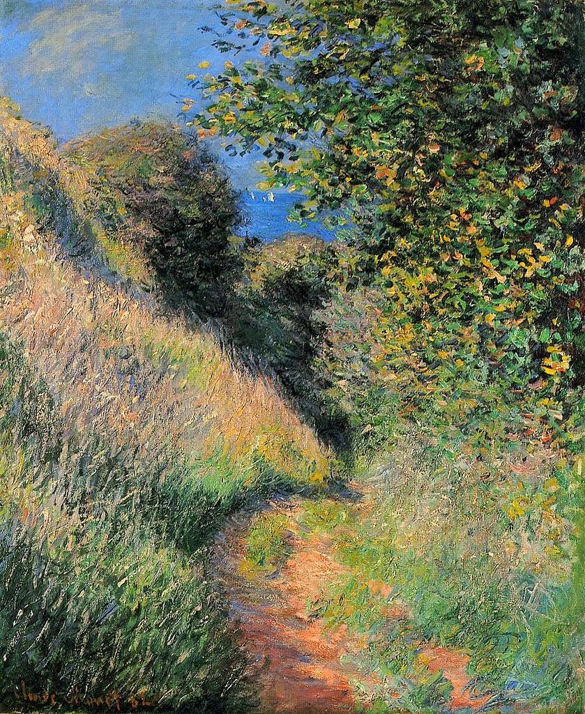 Chemin creux à Pourville (1882)